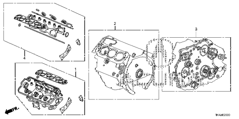 2013 TL ADV(SHAWD) 4 DOOR 6AT GASKET KIT diagram