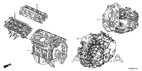 2013 TL ADV(SHAWD) 4 DOOR 6AT ENGINE ASSY. - TRANSMISSION ASSY. diagram