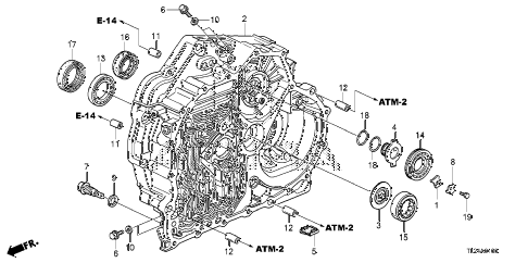 2009 TSX(TECH) 4 DOOR 5AT AT TORQUE CONVERTER CASE diagram