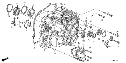 2012 TSX 4 DOOR 5AT AT TRANSMISSION CASE diagram