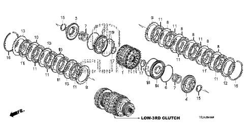 2010 TSX 4 DOOR 5AT AT CLUTCH (LOW-3RD) diagram