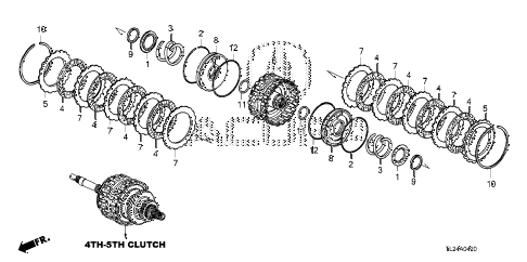 2010 TSX 4 DOOR 5AT AT CLUTCH (4TH-5TH) diagram