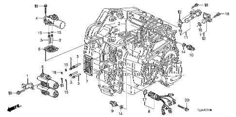 2009 TSX(TECH) 4 DOOR 5AT AT SOLENOID diagram