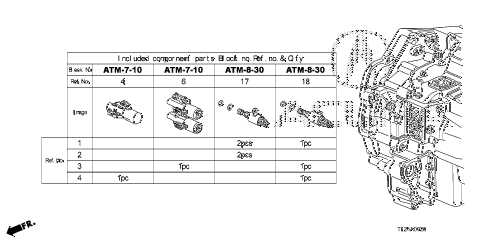 2012 TSX 4 DOOR 5AT AT SOLENOID VALVE SET diagram