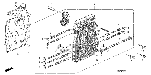 2012 TSX SE 4 DOOR 5AT AT MAIN VALVE BODY diagram