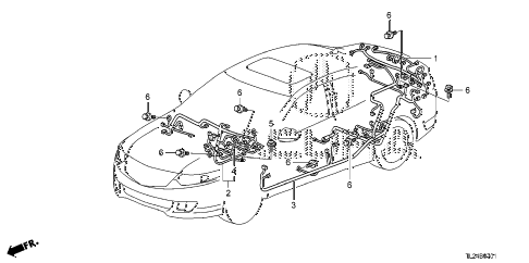 2012 TSX 4 DOOR 5AT WIRE HARNESS (2) diagram