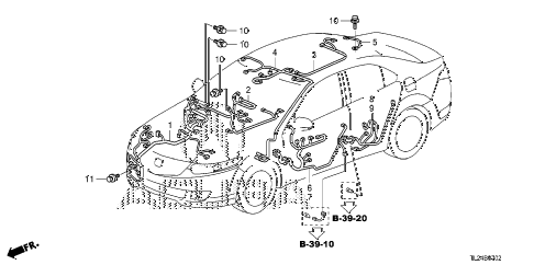 2012 TSX SE 4 DOOR 6MT WIRE HARNESS (3) diagram