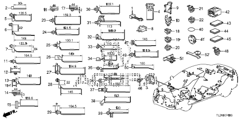 2012 TSX 4 DOOR 5AT HARNESS BAND - BRACKET diagram