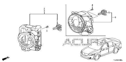 2011 TSX TECH 4 DOOR 6MT FOGLIGHT diagram