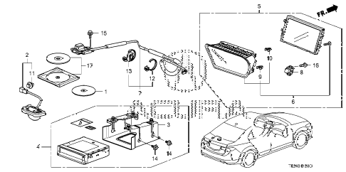 2009 TSX(TECH) 4 DOOR 5AT NAVIGATION SYSTEM (1) diagram
