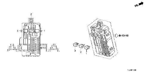 2009 TSX(TECH) 4 DOOR 5AT CONTROL UNIT (CABIN) (2) diagram