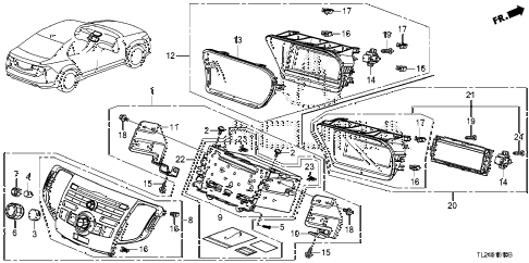 2009 TSX 4 DOOR 6MT AUDIO UNIT diagram
