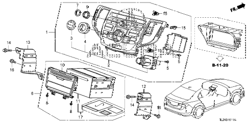2009 TSX(TECH) 4 DOOR 5AT AUDIO UNIT (NAVIGATION) diagram