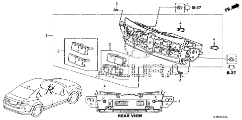 2012 TSX SE 4 DOOR 6MT AUTO AIR CONDITIONER CONTROL diagram