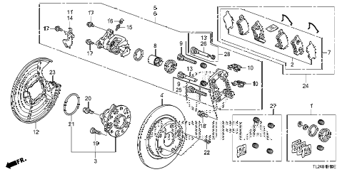 2010 TSX 4 DOOR 5AT REAR BRAKE diagram