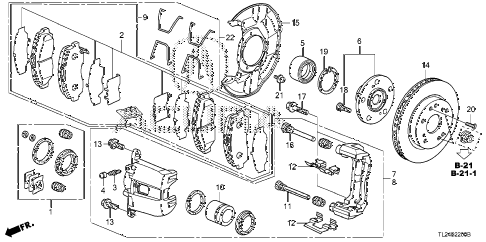 2012 TSX 4 DOOR 5AT FRONT BRAKE diagram