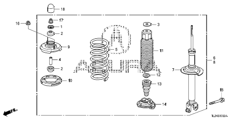 2012 TSX 4 DOOR 5AT REAR SHOCK ABSORBER diagram