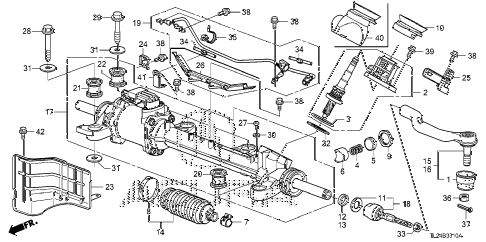 2011 TSX TECH 4 DOOR 6MT P.S. GEAR BOX (EPS) diagram