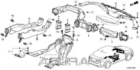 2012 TSX 4 DOOR 5AT DUCT diagram