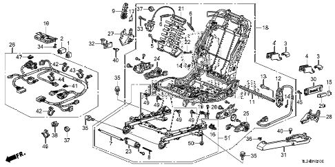 2012 TSX SE 4 DOOR 6MT FRONT SEAT COMPONENTS (L.) diagram