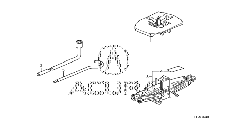 2012 TSX SE 4 DOOR 6MT TOOLS - JACK diagram