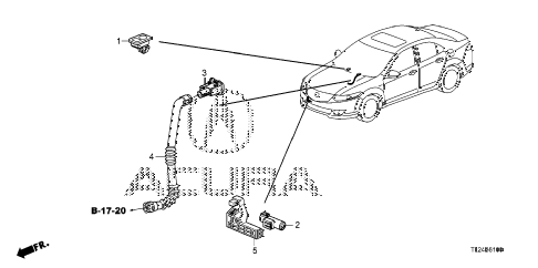 2009 TSX 4 DOOR 6MT A/C SENSOR diagram