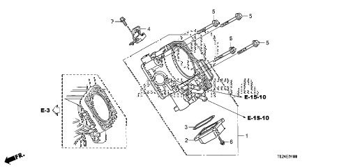 2009 TSX(TECH) 4 DOOR 5AT THROTTLE BODY diagram