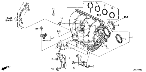 2011 TSX TECH 4 DOOR 6MT INTAKE MANIFOLD diagram