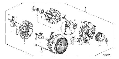 2010 TSX 4 DOOR 5AT ALTERNATOR (DENSO) diagram