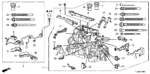2011 TSX TECH 4 DOOR 6MT ENGINE WIRE HARNESS diagram