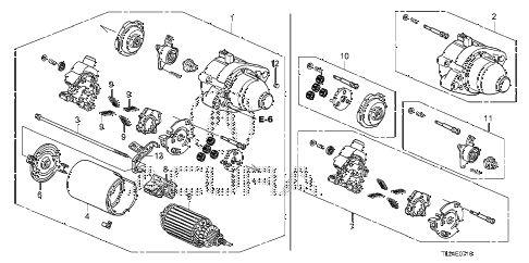 2010 TSX 4 DOOR 5AT STARTER MOTOR (MITSUBA) diagram
