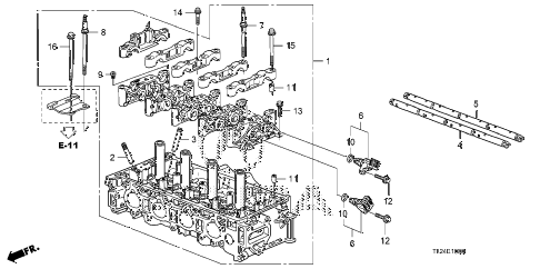 2012 TSX SE 4 DOOR 5AT CYLINDER HEAD diagram