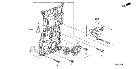 2011 TSX TECH 4 DOOR 6MT CHAIN CASE diagram