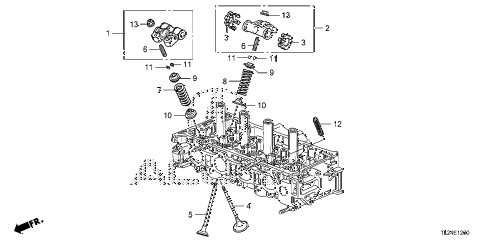 2011 TSX TECH 4 DOOR 6MT VALVE - ROCKER ARM diagram