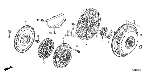2012 TSX SE 4 DOOR 6MT CLUTCH - TORQUE CONVERTER diagram