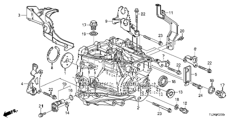 2011 TSX TECH 4 DOOR 6MT MT TRANSMISSION CASE diagram