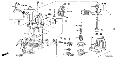 2009 TSX 4 DOOR 6MT MT SHIFT ARM diagram