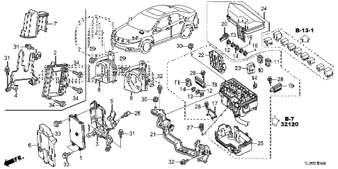 2014 TSX SE 4 DOOR 6MT CONTROL UNIT (ENGINE ROOM) (1) diagram
