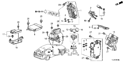 2014 TSX SE 4 DOOR 6MT CONTROL UNIT (CABIN) (1) diagram