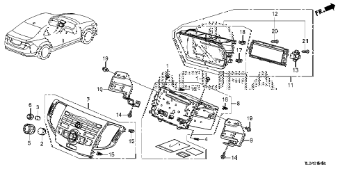 2014 TSX SE 4 DOOR 6MT AUDIO UNIT diagram