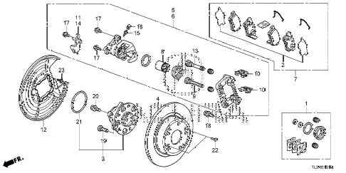 2014 TSX SE 4 DOOR 6MT REAR BRAKE diagram