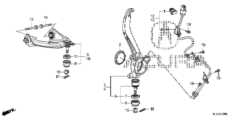 2014 TSX SE 4 DOOR 6MT FRONT KNUCKLE diagram
