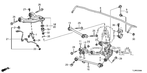 2014 TSX SE 4 DOOR 6MT REAR LOWER ARM diagram