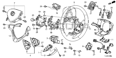 2014 TSX SE 4 DOOR 6MT STEERING WHEEL (SRS) diagram