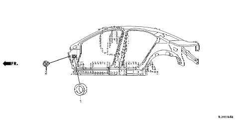 2014 TSX SE 4 DOOR 6MT GROMMET (SIDE) diagram