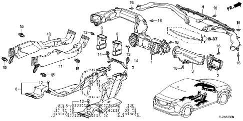 2014 TSX SE 4 DOOR 6MT DUCT diagram
