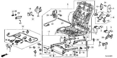 2014 TSX SE 4 DOOR 6MT FRONT SEAT COMPONENTS (R.) (SWS) diagram