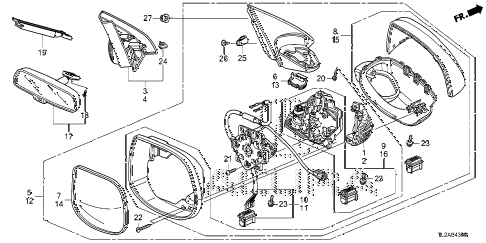 2014 TSX SE 4 DOOR 6MT MIRROR diagram