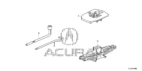 2014 TSX SE 4 DOOR 6MT TOOLS - JACK diagram