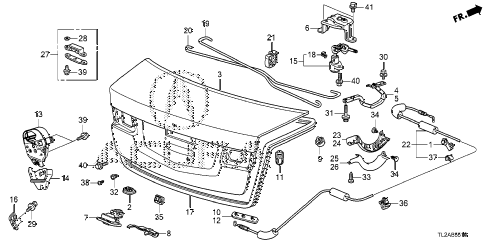 2014 TSX SE 4 DOOR 6MT TRUNK LID diagram